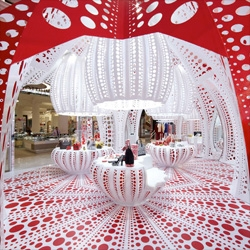 Louis Vuitton and Yayoi Kusama's polka dot infused concept store at Selfridges.