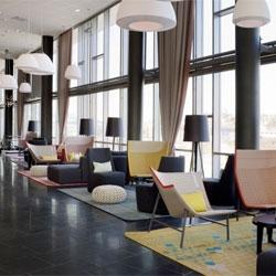 The interior of the Rica Hotel Narvik in Northern Norway by Scenario Interiørarkitekter.