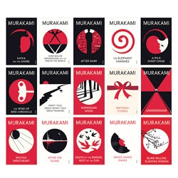 Vintage commissioned illustrator Noma Bar to redesign the covers of titles by Haruki Murakami.