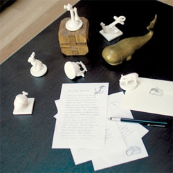 The porcelain arcadian stamp set from IMM Living.