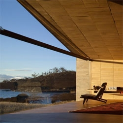 The Shearer's Quarters House by John Wardle Architects in North Bruny Island, Australia.