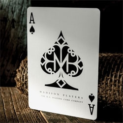 Daniel Madison Players cards from theory11 contain a secret marking system that reveals the identity of each and every playing card..