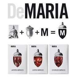 Enric Aguilera & Asociados's packaging for DeMaria'a acorn-fed Iberian ham.