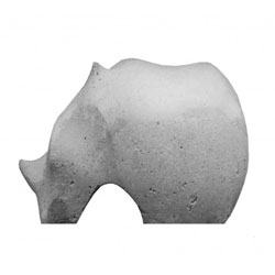 Love these concrete animals from Ivanka. They looks like stone age toys!