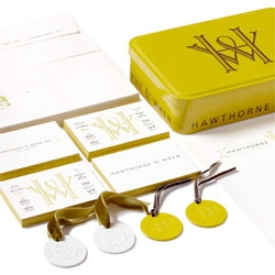 Charming packaging by Kevin Cantrell for Hawthorne & Wren.
