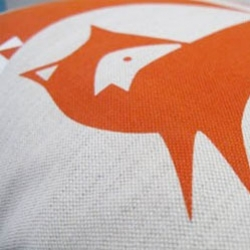 Cute fox pillows from Robin & Mould.