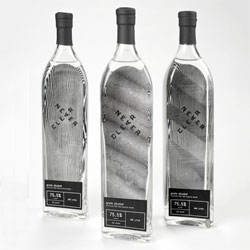 Interesting packaging for Neverclear grain alcohol by student Toni Hall.