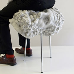 Soft Hercules by FAT (Fashion Architecture Taste), a bust of Hercules stool cast from foam rubber.