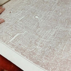 An incredibly detailed A1 sized paper maze that was 7 years in the making.