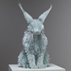 Incredible animal sculptures made from shattered glass by Marta Klonowska.