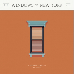 The Windows of New York project from illustrator Jose Guizar.