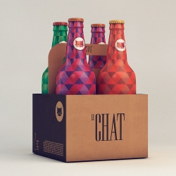 New packaging for Le Chat designed by Isabela Rodrigues of Sweety Branding Studio.