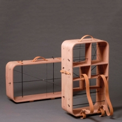 Hanemaai's infinite home tool, part suitcase, part display case.