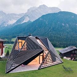 The Paramount Alma Residence from PLASMA Studio tucked into the Italian Dolomites in Sesto.