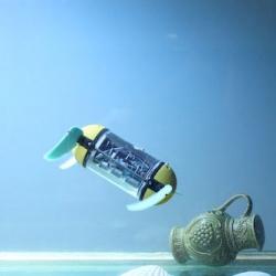 The uCAT, a turtle-inspired robot for exploring dangerous wrecks.