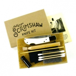 The Heirloom Scrimshaw kit lets you customize your own bone-handle knife.