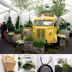 Antler hose racks, fertilizing tea, woolly twine and more at Grow London 2014, the contemporary garden fair.