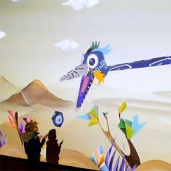 Puppet Parade, fun interactive Kinect controlled puppets by Design I/O.