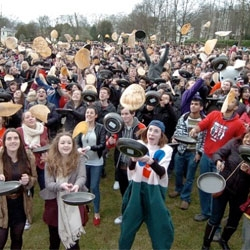 The Big Flip at the University of Sheffield saw a record breaking attempt to flip as many pancakes non-stop for 30 seconds. 890 people became Guinness World Record breakers!