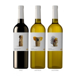 Lavenia and Cienfuegos' packaging design for Delhaize's Wines of the World.