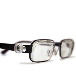 Eyejusters, readjustable eyeglasses that allow users to change their own prescription.