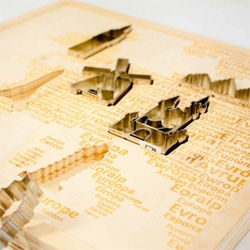 City cookie cutters in the shape of the monuments of European capital cities, produced by Italo Ottinetti.
