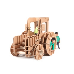 Tsuchinoco, a new brand of cardboard kids furniture from designer Masahiro Minami.