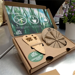 Planting made easy! Daniel Robson's project, the Plot Seed Wheel gives users customized seeds to suit their gardens and come in separate plantable pods, so you don't even need gardening tools!