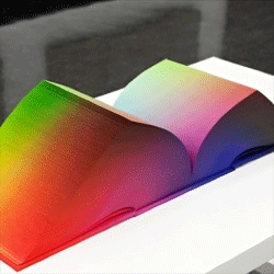 Tauba Auerbach's RGB Colorspace Atlas, a beautiful book of colour.