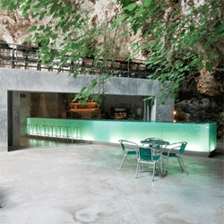 Bar Socovan, a gorgeous bar in a Mallorcan cave from A2 Arquitectos.