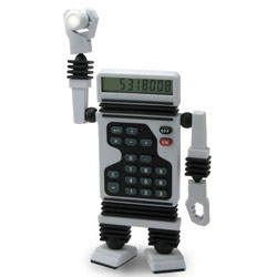 I'm glad saki likes us, b/c through her mention, i discovered this ROBOT CALCULATOR! So cute.