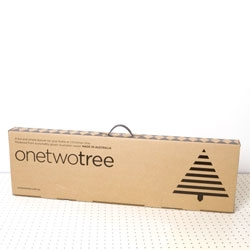 OneTwoTree, a  ply-wood Christmas tree with great packaging by Mark Trzopek.