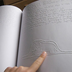 A beautiful braille edition of The Little Prince.