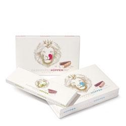 Cute packaging for Hardegger's original Zurich Hüppen by Nadine Geissbühler.