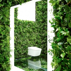 A lush green bathroom? A part of HOUSE VISION 2013,  this incredible planted bathroom is the creation of Naruse-Inokuma Architects with botanical master Makoto Azuma in collaboration with YPP AP and TOTO.