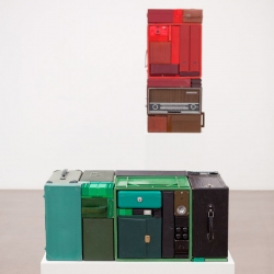 Installation works by Michael Johansson. It's beautiful when things all just fit.