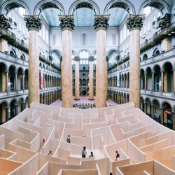 The BIG Maze by BIG-Bjarke Ingels Group. Located in the National Building Museum, Washington .