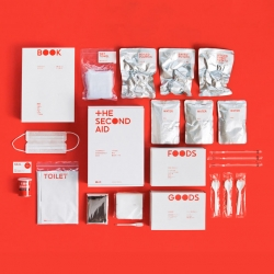 The Second Aid, a disaster kit from NOSIGNER and the Kohshin Trading company.