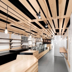 Au Pain Doré, a Montreal Bakery designed by Naturehumaine.