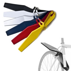 Full Windsor QuickFix Rear Mudguards fold flat to fit in your bag and just clip on to your bike.