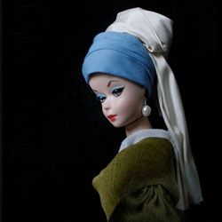 Jocelyn Grivaud's 'Poupée Barbie' collection, recreating iconic works of art using Barbie dolls.