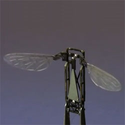 The Harvard Monolithic Bee (Mobee), a tiny millimeter-scale flapping wing robotic insect produced using Printed Circuit MEMS (PC-MEMS) techniques and featuring pop-up book inspired assembly.