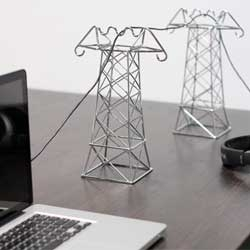 Lovely Power Lines for holding your cables by Daniel Ballou.