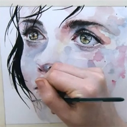 Beautiful speed painting by agnes-cecile (Silvia Pelissero).