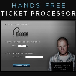 Nice promo by Jawbone, if you get a ticket for not using a handsfree, you can get a 20$ discount on a jawbone headset.