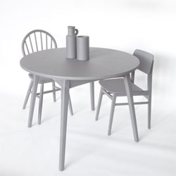 Studio i29's new online furniture store /thisisasgoodasnew/ upcycles furniture with a coat of stylish matte grey paint.