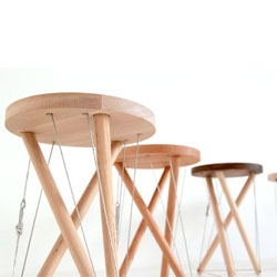 Sam Weller's latest project, the Snelson Stool