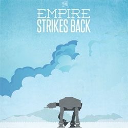 Ryan McArthur's beautiful minimalist start wars trilogy posters.