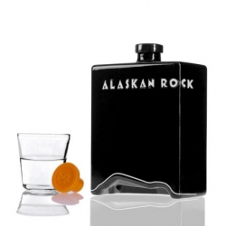 Playful packaging for Australia's Alaskan Rock vodka.