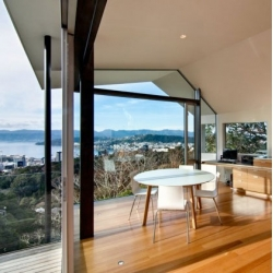 The stunning Seaview House by Parsonson Architects in Wellington.